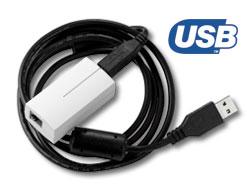 JA-80T USB interface pro připojení ústředny k PC k SW OLink